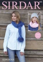 Sirdar Gorgeous - 8095 Scarf, Snood & Hat Knitting Pattern